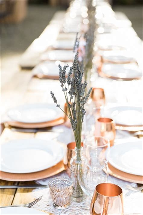 Wine Country Wedding With Copper Cup Favors Love And Lavender