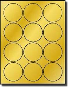 gold foil 2 1 2 inch round labels for laser only averyr 5294 With avery 2 round label template