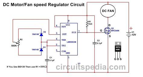 Fan Motor Speed Controller Regulator Circuit