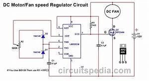 12v Dc Fan Motor Speed Controller Circuit Diagram  Dc Fan Speed Control Circuit