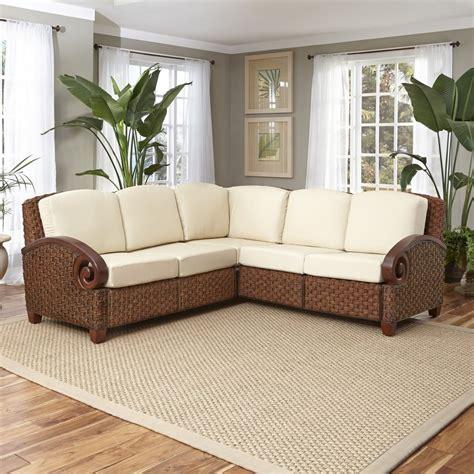 cabana banana iii cinnamon  shaped sectional home styles