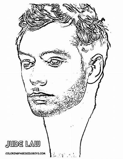 Star Coloring Hollywood Jude Law Pages Colouring