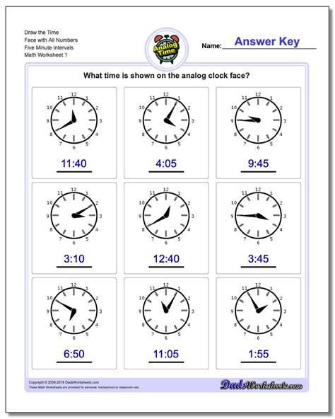 worksheet time to the minute worksheets grass fedjp