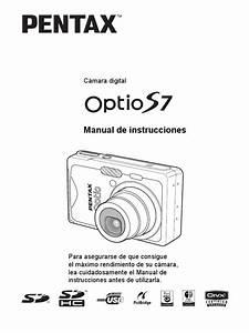 Manual Instrucciones Camara Pentax Optio S7