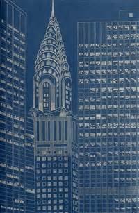 Chrysler Building Blueprint by Yvonne Jacquette Artnet