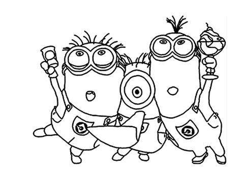 Minion Coloring Pages Printable Coloring Pages Coloring