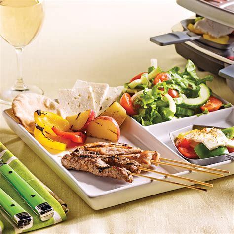 raclette à la grecque recettes cuisine et nutrition