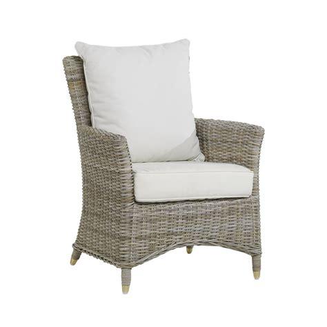 fauteuil en kooboo gris n 233 vis avec coussin