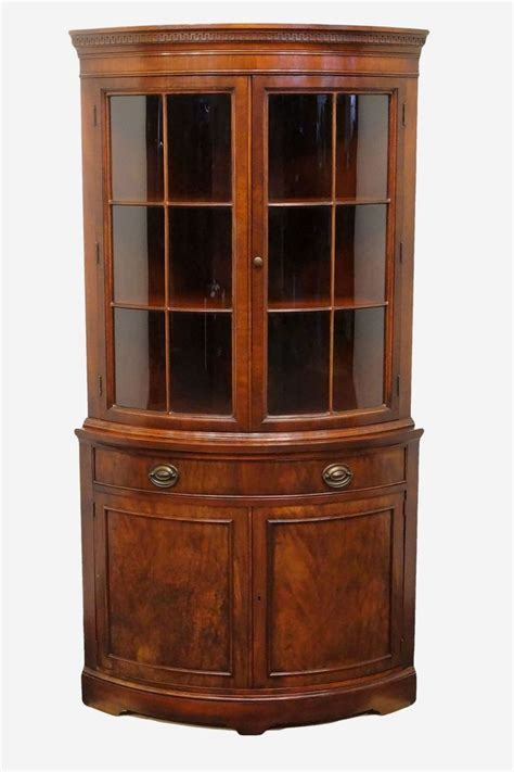 Key Cupboards by Drexel Travis Court Mahogany Key Bow Front Corner