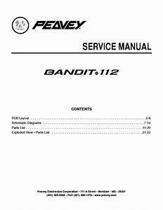 Peavey Bandit 112 Service Manual Service Manual Download