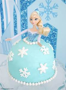 How to Make an Elsa Doll Birthday Cake - Party Ideas