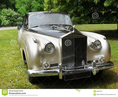 vintage luxury cars rolls royce cloud limousine editorial