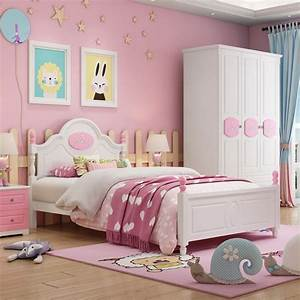 Children, Beds, Kids, Furniture, Pink, Solid, Wood, Kids, Beds, Child, Bed, Chambre, Bebe, European, Style, Hot