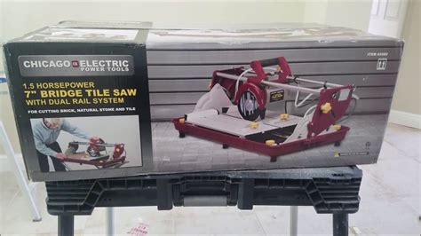 bridge tile saw harbor freight harbor freight bridge tile saw from chicago electric