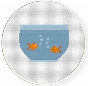 Fish Bowl Cross Stitch Pattern
