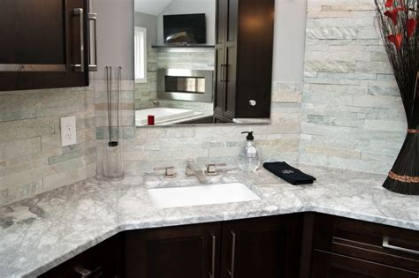 white quartzite instead of marble for countertops toms