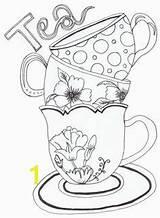 Coloring Kettle Tea Stuff Household Amp Divyajanani sketch template
