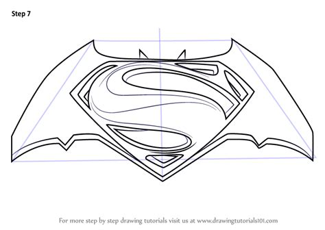 learn   draw batman  superman logo batman