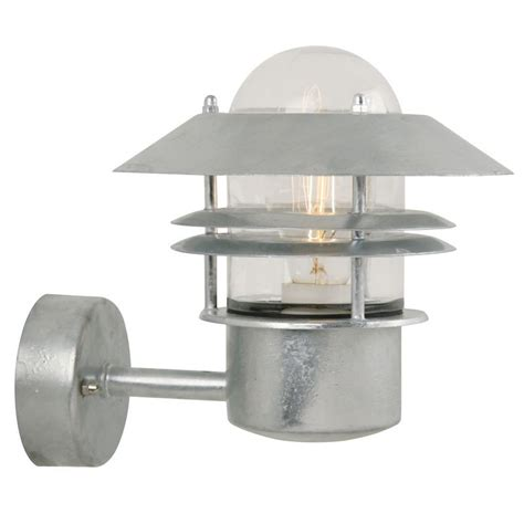 nordlux blokhus up e27 outdoor wall light galvanised