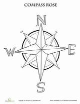 Compass Rose Coloring Map Worksheet Printable Maps Grade Pages Worksheets Activities Education Learning Skills 3rd Adult Social Teaching Template Nautical sketch template