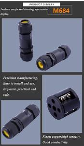 Pin waterproof connector led lighting outdoor cable