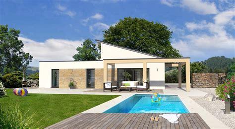 bungalow flachdach bauen bungalow bauen mit streif