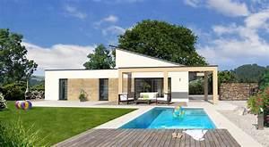 Schöne Bungalows Bauen : bungalow mit pultdach bauen mit streif bungalow pd fd 3800 ~ Indierocktalk.com Haus und Dekorationen