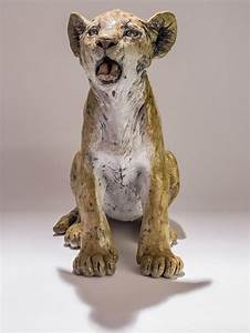 raku fired animal sculptures by nick mackman ox
