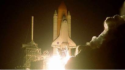 Shuttle Space Launch Wallpapers Hubble Night Discovery