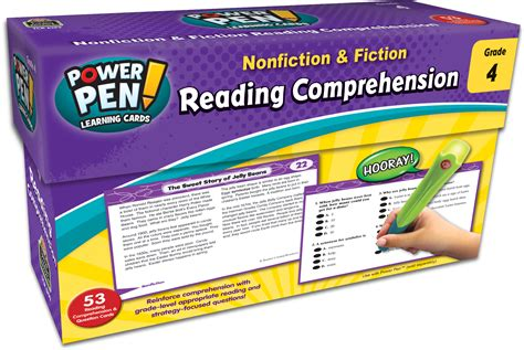 Power Pen Learning Cards Reading Comprehension Grade 4  Tcr6199  Teacher Created Resources