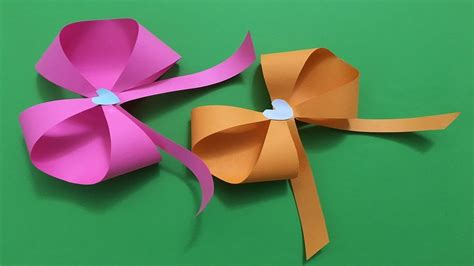 easy beautiful origami paper bow tutorial