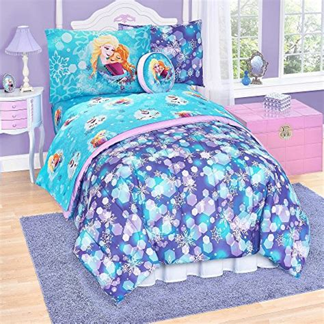 quot frozen quot 6 pc twin reversible comforter set home garden