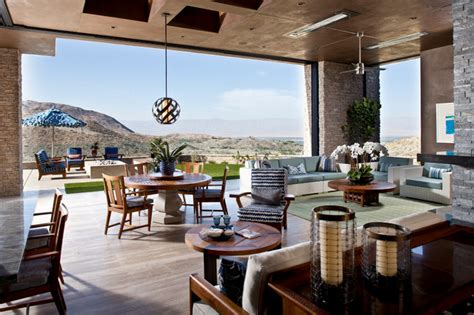 Indoor Outdoor Living Space  Contemporary  Living Room