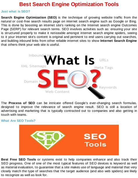 the best search engine optimization best search engine optimization tools