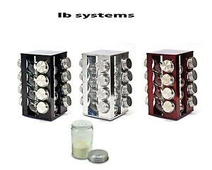 Spice Rack Carousel by Stainless Steel 16 Glass Spice Jar Revolving Spice Rack