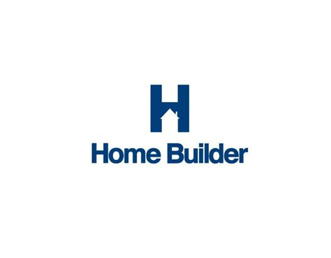 H Home Logo Design : Home Builder Logo // House In H