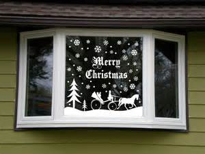 christmas snowy snow scene vinyl decal window kit