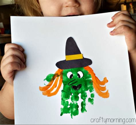 Handprint Witch Craft For Kids To Make  Crafty Morning