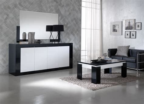 Black And White Sideboard by Polaris Black White High Gloss 4 Door Sideboard Modish