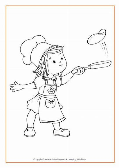 Colouring Pancakes Flipping Pancake Pages Activity Become