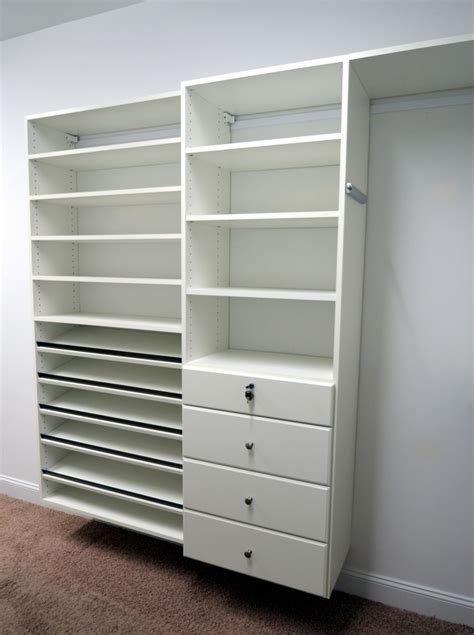 Closet With Drawers And Shelves by Custom Closets All Styles Closet Ets Displays