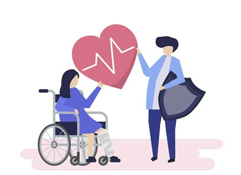 character illustration  people holding health insurance