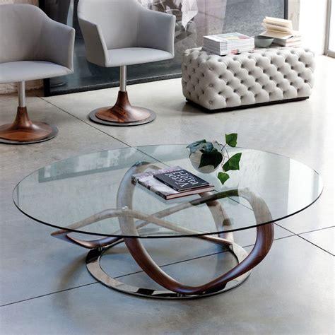 table basse ronde en verre table de salon ronde en verre table salon ronde bois maisonjoffrois