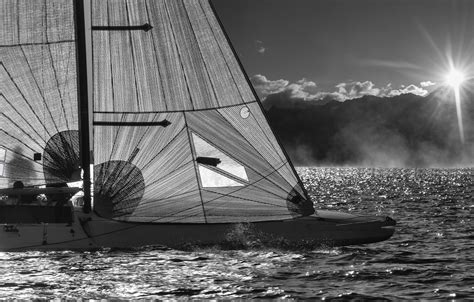 Sailboat Black And White by Black And White Sailboat By Bob Chilton Photography
