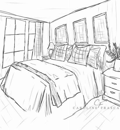 Bedroom Coloring Pages Sheet Paint Interior Printable