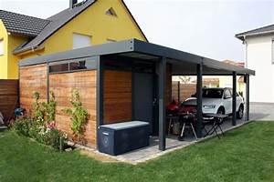 Garage Aus Holz : design metall carport aus holz stahl glas mit ger teraum stahlzart metallcarport stahlcarport ~ Frokenaadalensverden.com Haus und Dekorationen