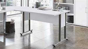 Schreibtisch 120 Cm : schreibtisch calvia 1 in wei mit metallkufen 120 cm ~ Orissabook.com Haus und Dekorationen