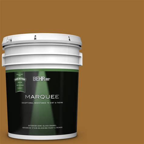 behr premium plus 5 gal ppu6 01 curry powder semi gloss