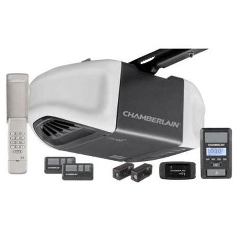 home depot chamberlain garage door opener chamberlain 1 25 hps belt drive battery backup smartphone