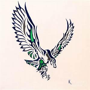 Seahawk Painting by Kimatha Kesner